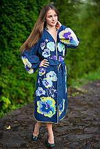 """Вишите плаття веселковими кольорами з ексклюзивним пошиттям """"Мальовничі чорнобривці"""""""