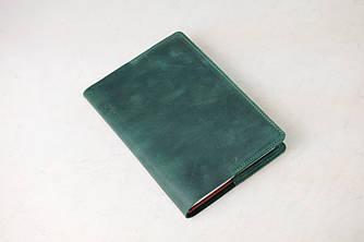 """Обложка для блокнота А5 """"Модель № 1"""" Винтажная кожа цвет Зеленый"""