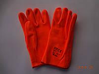 Перчатки оранжевые ПВХ флуорисцентные МБС Safety Group SG-013 короткие, 30 см (упаковка 6 пар), фото 1