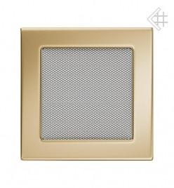 Вентиляционная решетка для камина KRATKI 17х17 см позолоченная