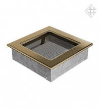 Вентиляционная решетка для камина KRATKI 17х17 см позолоченная , фото 3