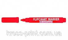 Маркер для флипчарта 2,5мм Centropen 8550 красный пулевидный 10штуп