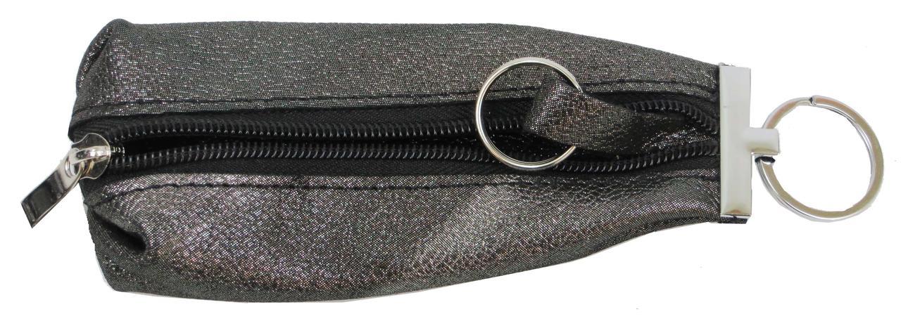 Кожаная ключница ALWAYS WILD 012-60 темно серая