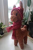 Мягкая вязаная игрушка ручной работы Лама.Мягкие игрушки животные handmade
