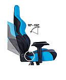 Геймерское кресло Hexter (Хекстер) RC R4D TILT MB70 01 black/blue, фото 6