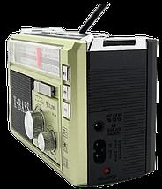 Радиоприемник с фонарем Golon RX-381 - Радио с MP3, USB/SD и LED фонариком (Gold), фото 3