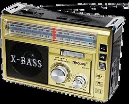 Радиоприемник с фонарем Golon RX-381 - Радио с MP3, USB/SD и LED фонариком (Gold), фото 2
