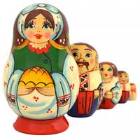 Матрешка 5 кук. Украинская семья (8см)