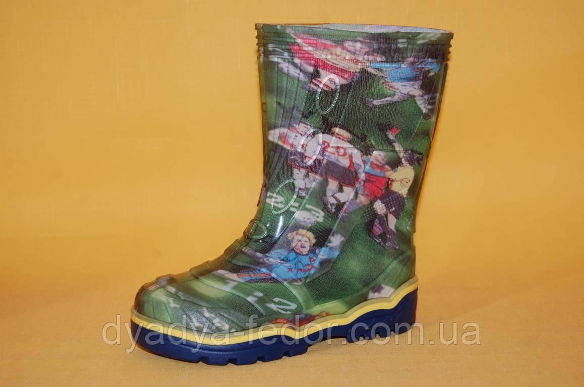Детские Резиновые сапоги Litma Украина 2735 Для мальчиков Зеленый размеры 27_35