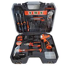 Мультифункциональный набор инструментов для монтажа с дрелью-шуруповертом 36 пр. Harden Tools 510836