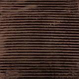 Плед коричневый шарпей покрывало из микрофибры, однотонный плед шарпей, фото 2