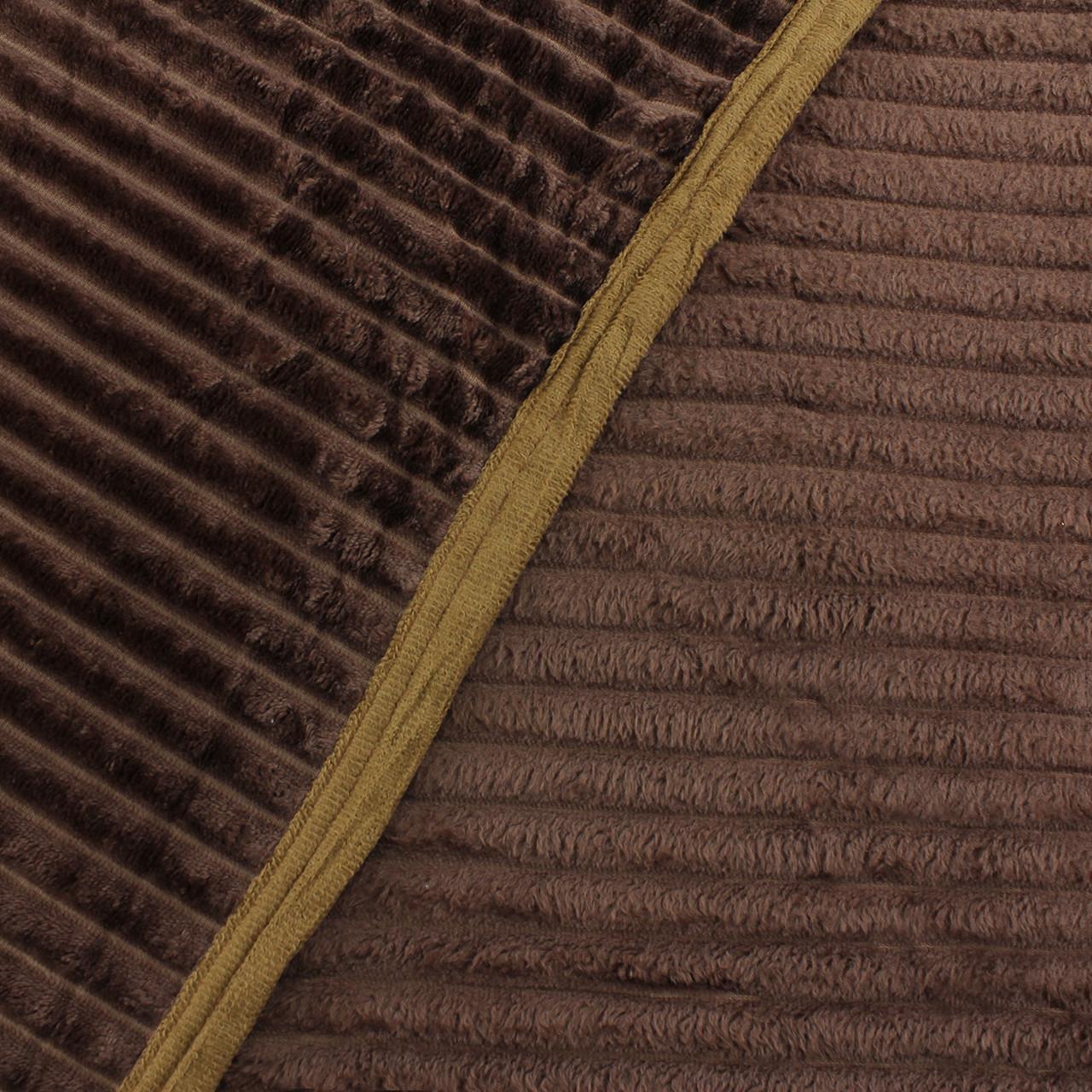 Плед коричневый шарпей покрывало из микрофибры, однотонный плед шарпей