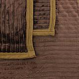 Плед коричневый шарпей покрывало из микрофибры, однотонный плед шарпей, фото 3