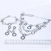 Комплект серьги, браслет и колье