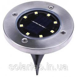 LED светильник в землю на солнечной батарее VARGO 8LED (VS-701328)