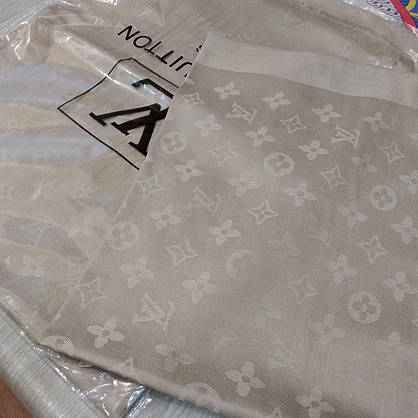 Палантин  Louis Vuitton бежевый, фото 3