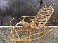 Плетеное кресло качалка из лозы, фото 1