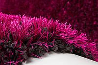 Фиолетово-черный однотонный ковер травка очень мягкий и приятный на ощупь, фото 1