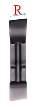 MGGN200-R F6018 Твердосплавная пластина для токарного резца