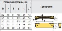 MGGN200-R F6018 Твердосплавная пластина для токарного резца, фото 2