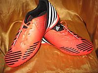 Сороконожки Adidas Predator оранжево-черные