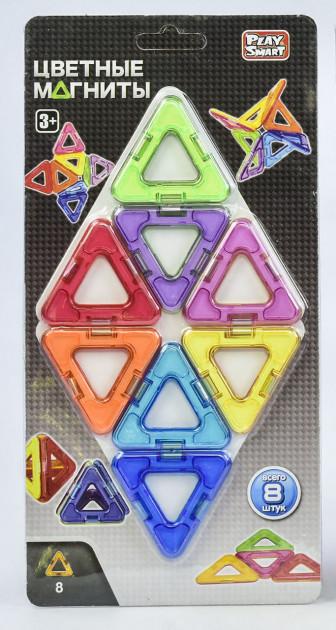 """Магнитный конструктор Play Smart 2432  """"Цветные магниты"""" 8 деталей ."""