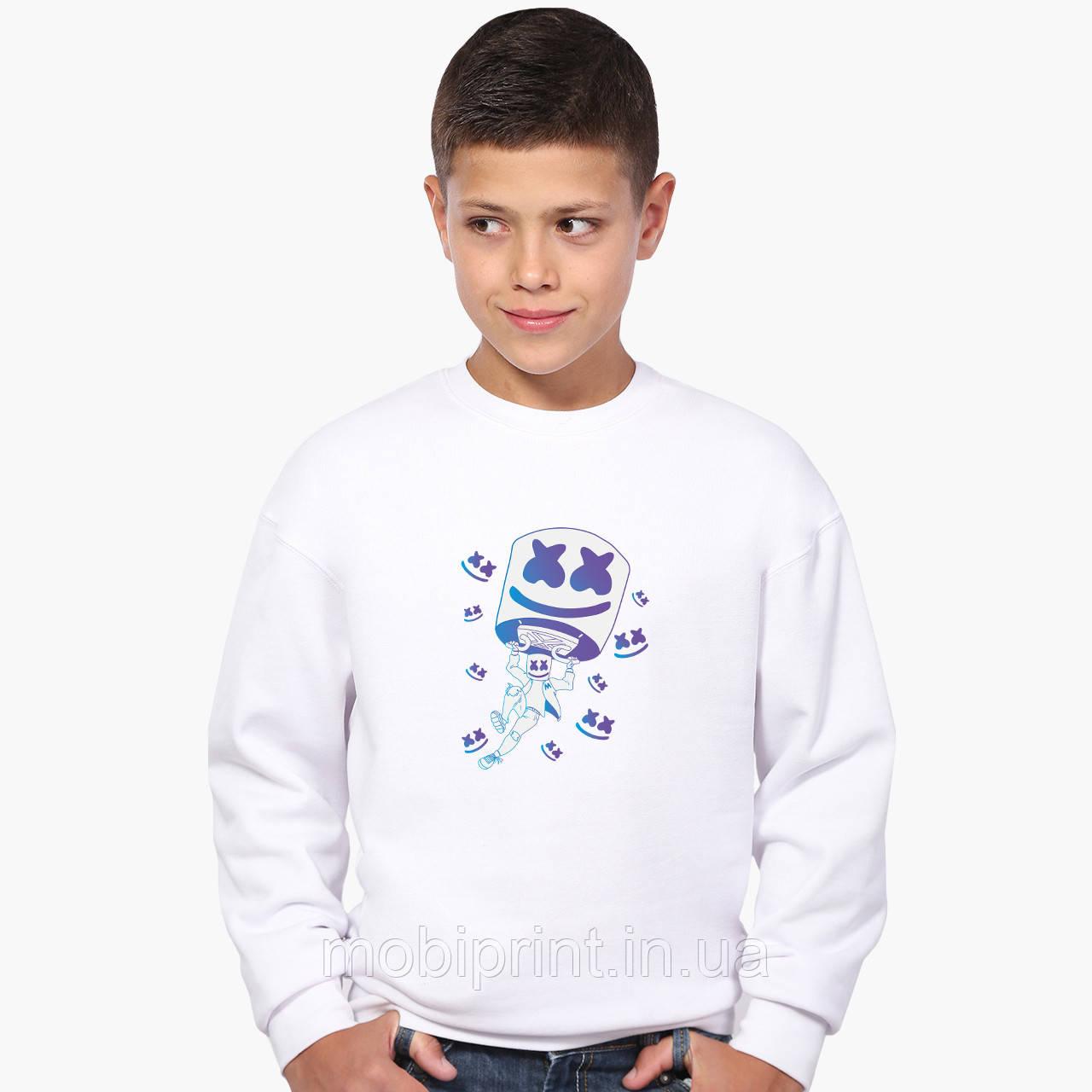 Свитшот для мальчика Маршмелло Фортнайт (Marshmello Fortnite) (9509-1329-8) Белый