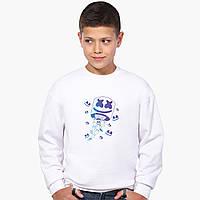 Свитшот для мальчика Маршмелло Фортнайт (Marshmello Fortnite) (9509-1329-8) Белый, фото 1