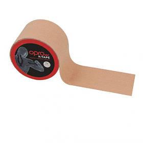 Кинезиологический тейп OPROtec Kinesiology Tape TEC57544 бежевий 5см*5м