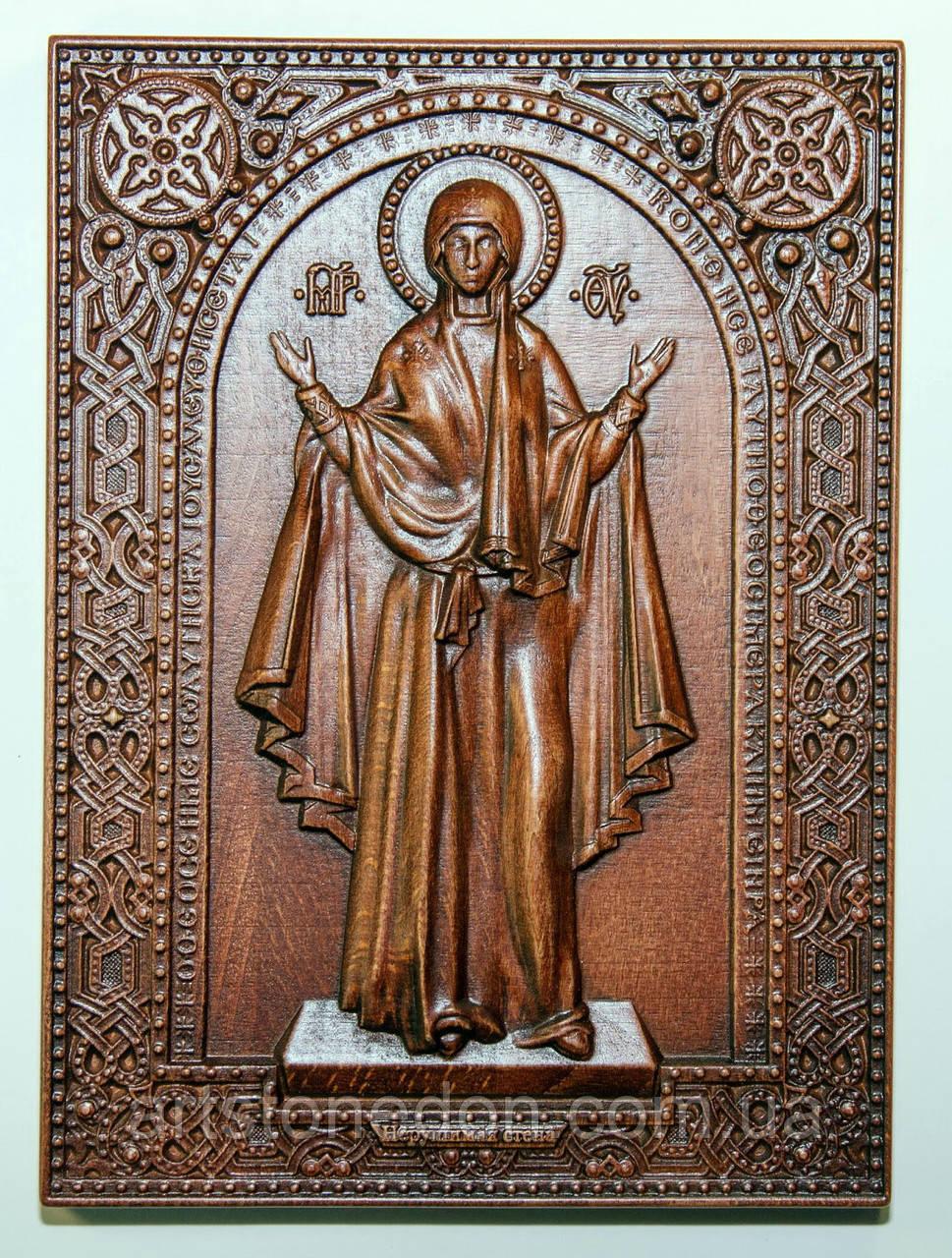 Резная икона Божьей Матери «Нерушимая стена»