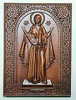 Резная икона Божьей Матери «Нерушимая стена», фото 1