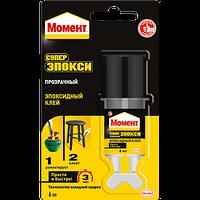 Клей-шприц эпоксидный двухкомпонентный Henkel Момент Супер-Эпокси 6 мл