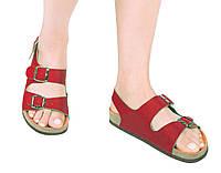 Анатомические сандалии FA-101 красные, размер 35