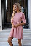 Сукня жіноча пудра, джинс, графіт, 42-44, 46-48, фото 6