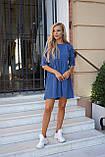 Сукня жіноча пудра, джинс, графіт, 42-44, 46-48, фото 7