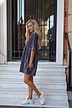 Сукня жіноча пудра, джинс, графіт, 42-44, 46-48, фото 2