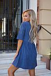 Сукня жіноча пудра, джинс, графіт, 42-44, 46-48, фото 9