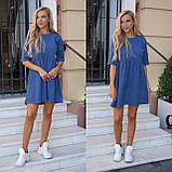 Сукня жіноча пудра, джинс, графіт, 42-44, 46-48, фото 8