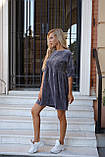 Сукня жіноча пудра, джинс, графіт, 42-44, 46-48, фото 4