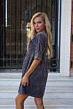 Сукня жіноча пудра, джинс, графіт, 42-44, 46-48, фото 3