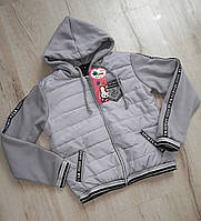 Утеплена демісезонна куртка на синтепоні 158 зростання