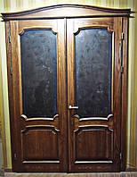 Двері міжкімнатні зі склом з натурального дерева(ясен)
