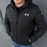 Куртка мужская весенняя осенняя Under Armour черная до 0*С утепленная демисезонная ветровка ЛЮКС качества