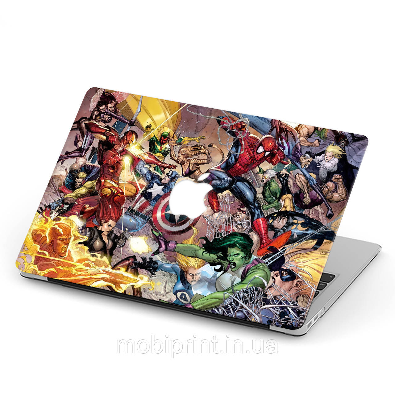 Чехол пластиковый для Apple MacBook Pro / Air Мстители (The Avengers) макбук про case hard cover