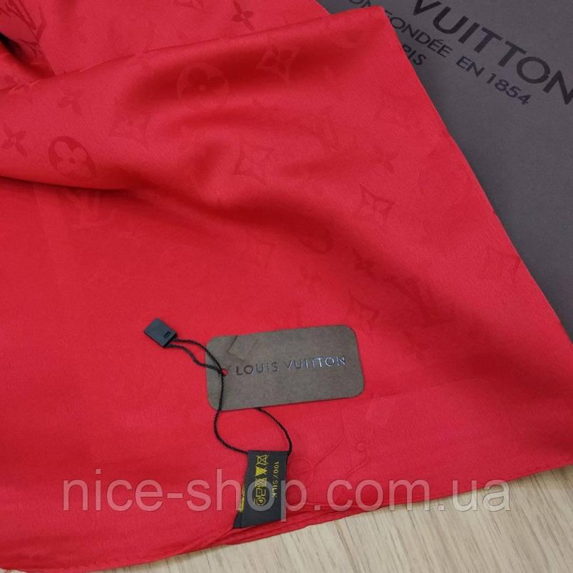 Платок Louis Vuitton шелк красный, фото 2