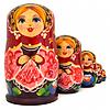 Матрешка 5 кук. Цветочная (9,5 см)