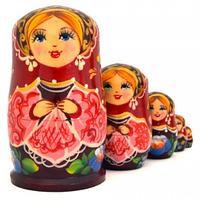 Матрешка 5 кук. Цветочная (9,5 см), фото 1