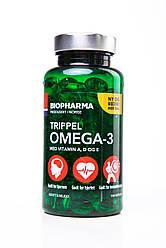 Рыбий жир с Омега 3 Biopharma Trippel Omega-3 144 капсулы Норвегия