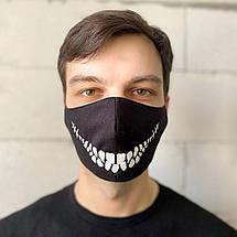 "Защитная маска для лица ""Death Smile"" черная, фото 2"