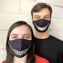 "Защитная маска для лица ""Death Smile"" черная, фото 3"